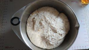 Schön aufgegangenes Brot