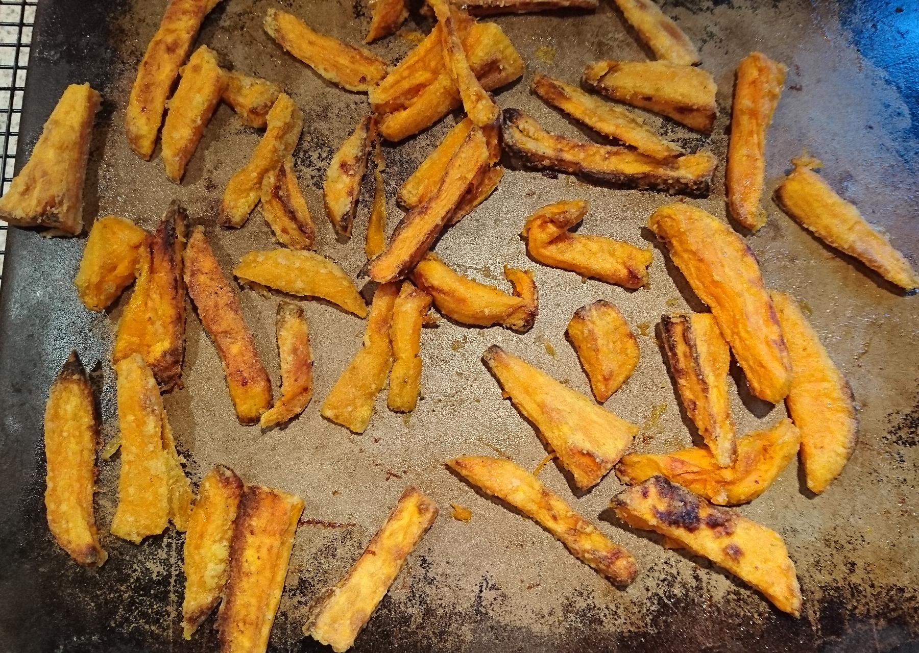 Süßkartoffel Pommes aus dem Backofen