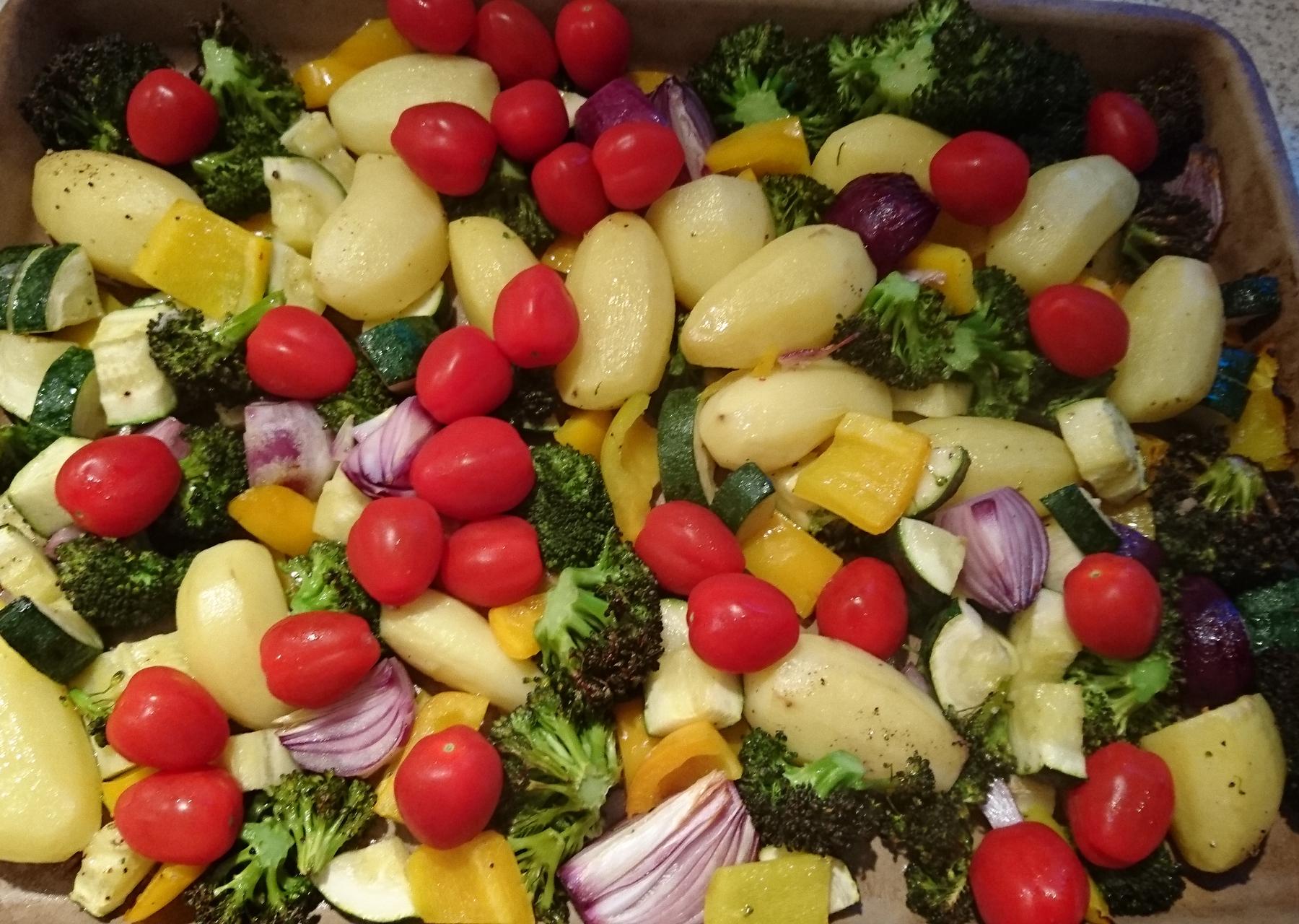 Honig-Senf Gemüse mit Kotelett und Gremolata