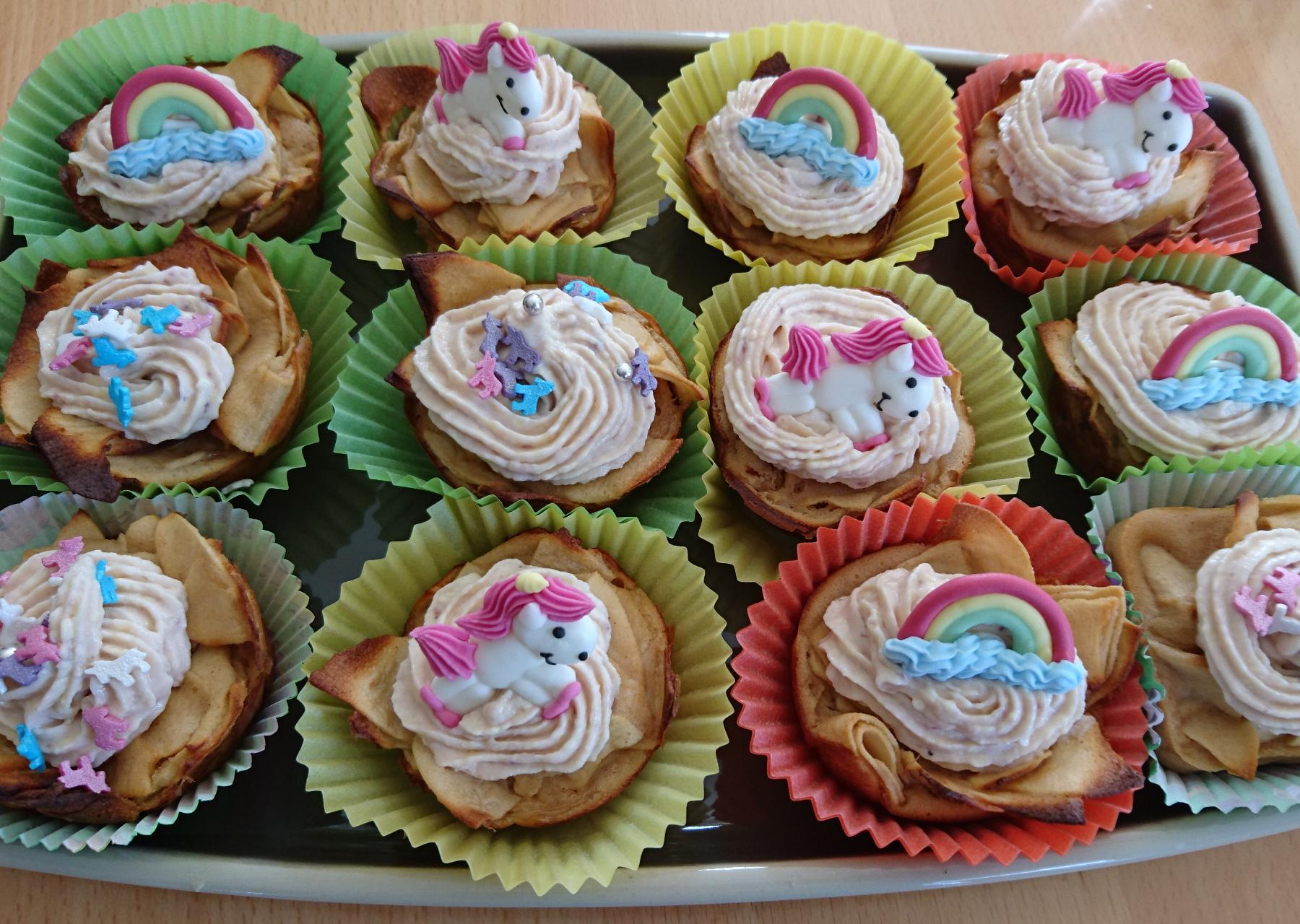 Apfel-Kirsch Muffins mit fast keinem Teig