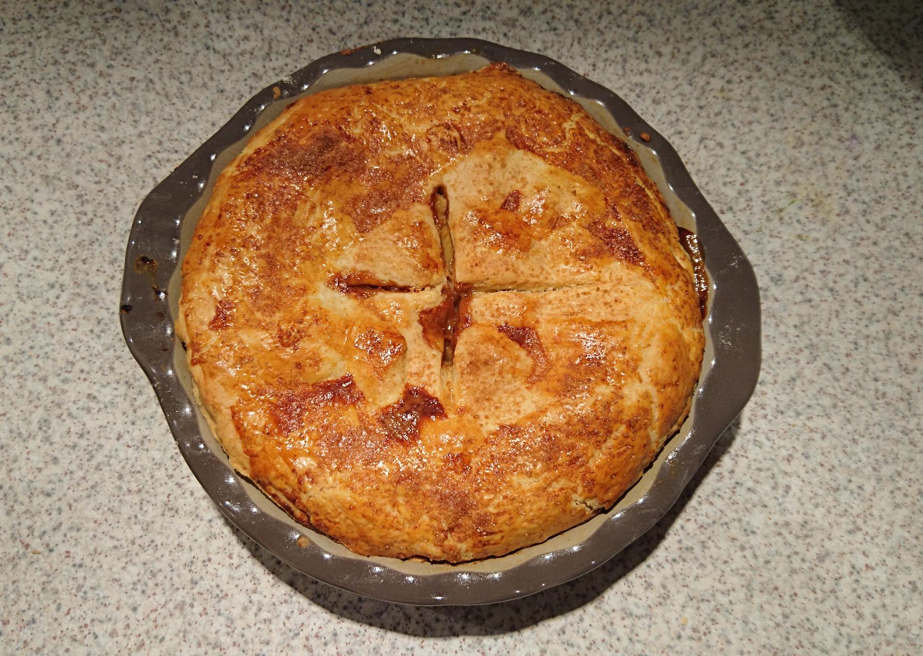 Apple-Pie mit kleinem Birnenanteil