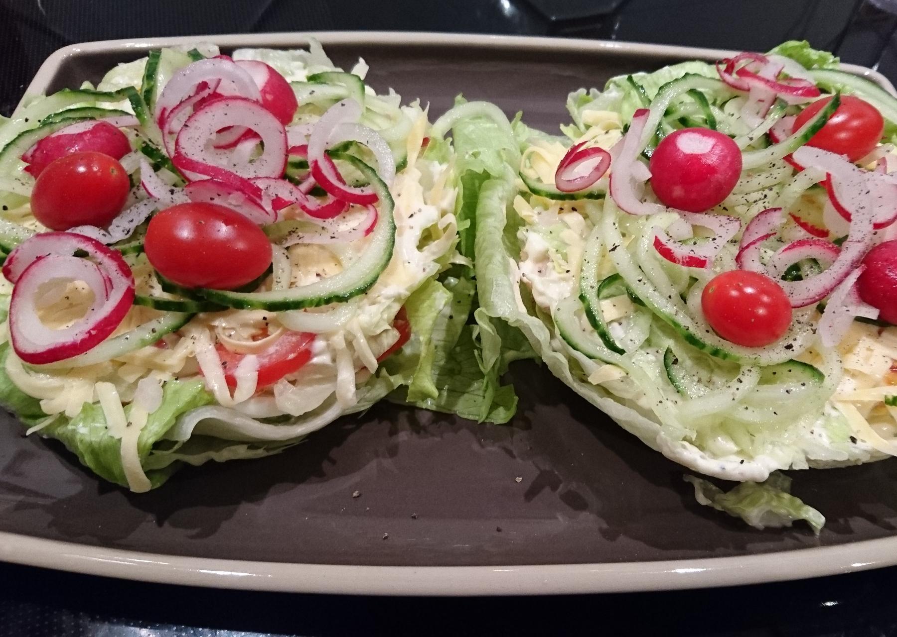 Salattorte aus dem Schichttortenbackset