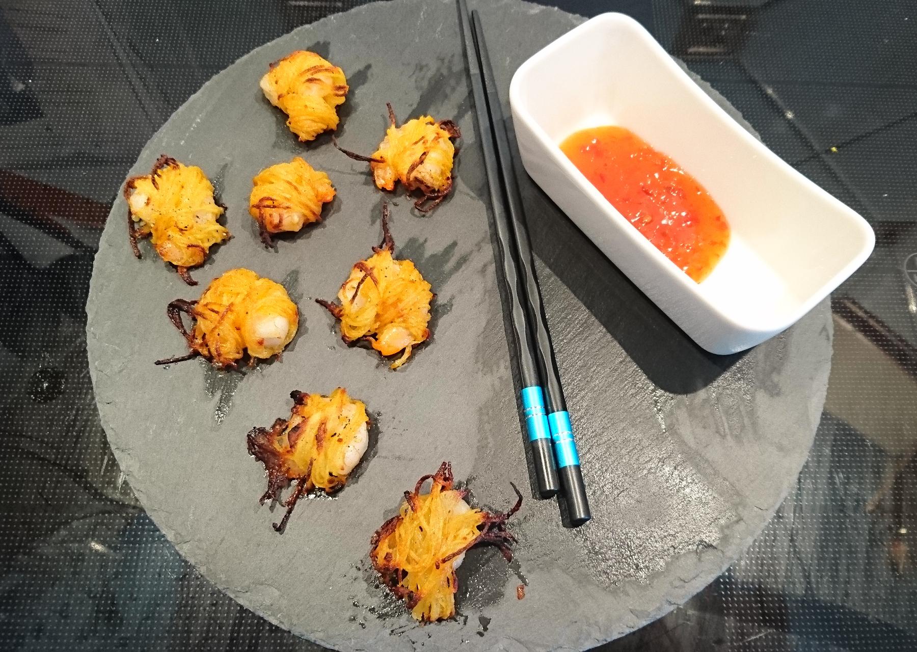 Black Tiger-Garnelen im Kartoffelmantel