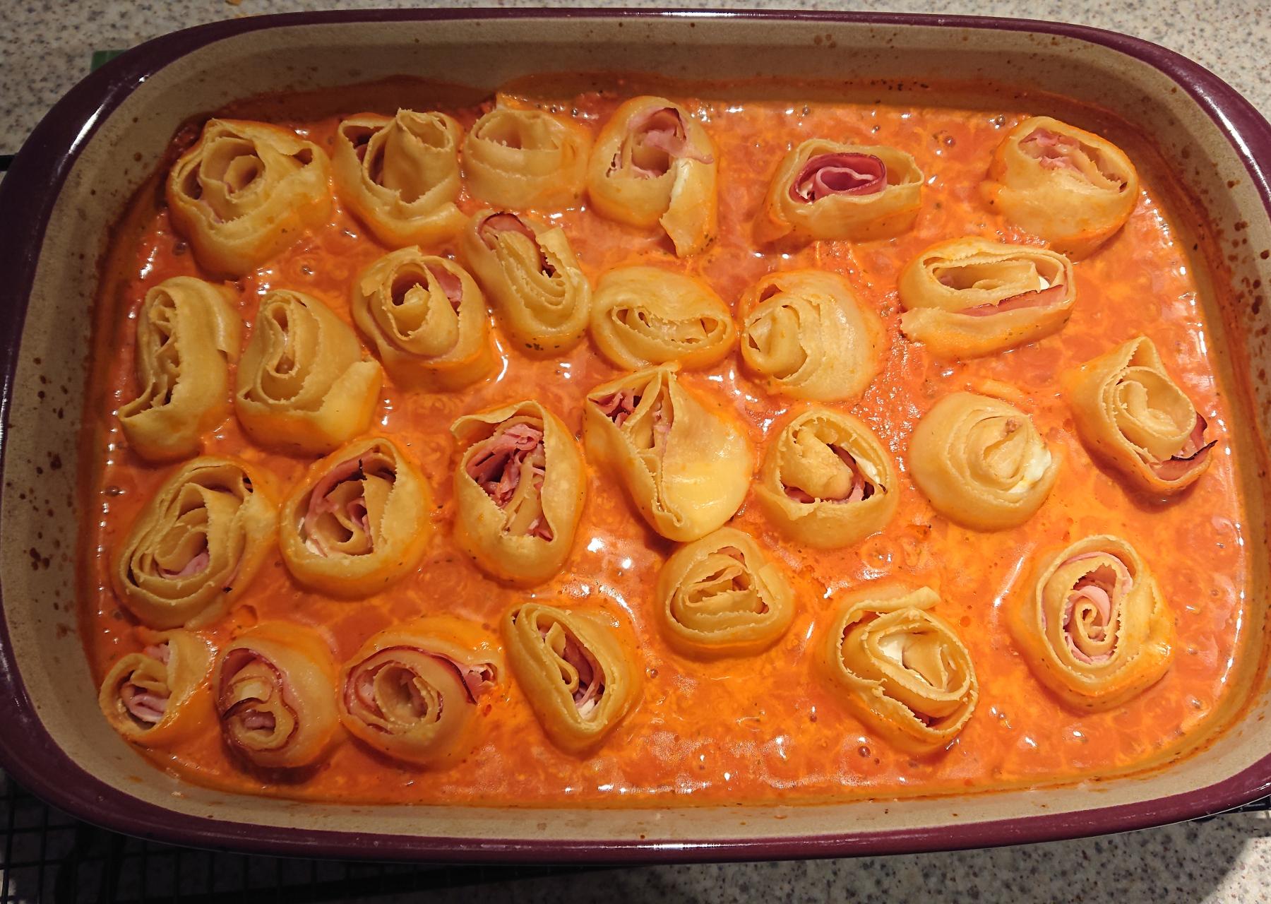 gerollte Lasagne