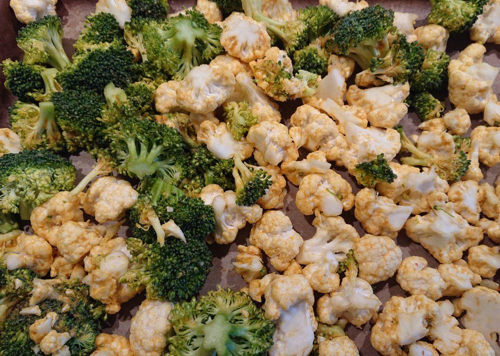 Salat Marrakesch - Blumenkohl und Brokkoli zerkleinert