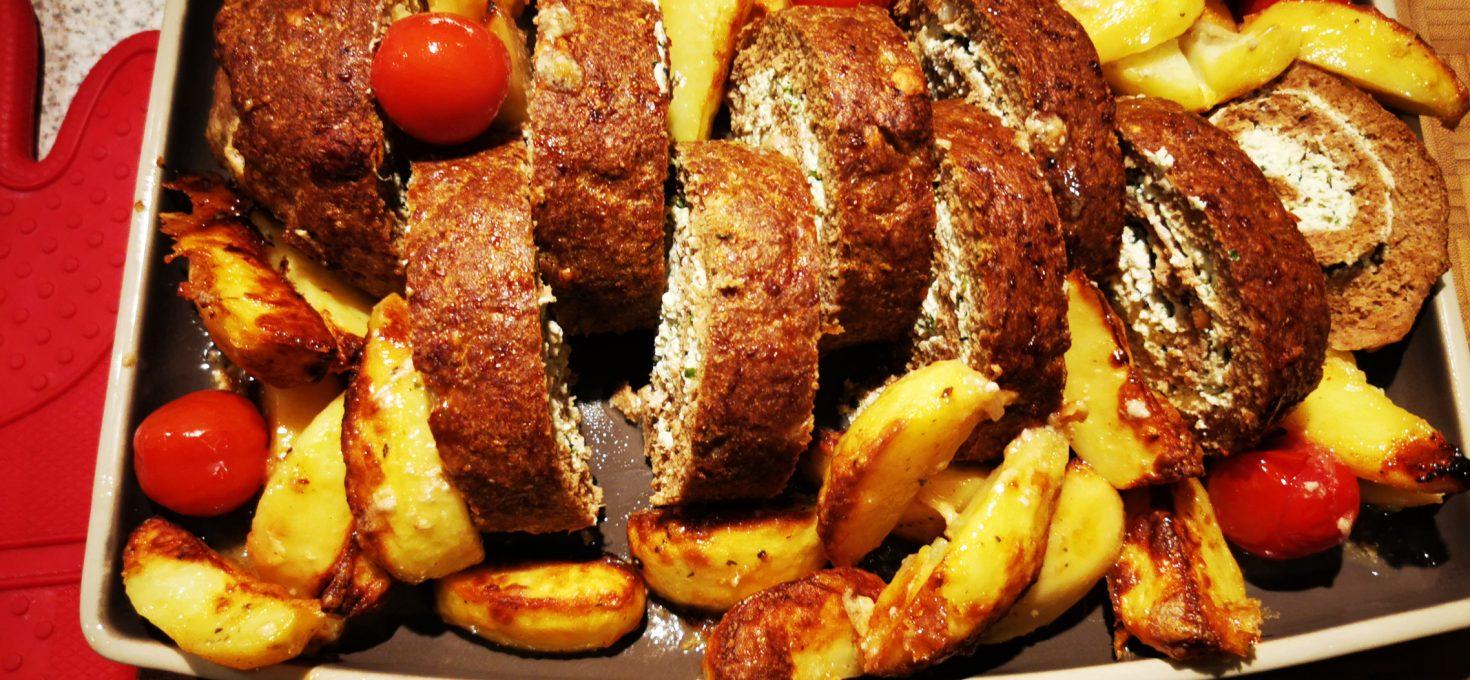 Ricotta Hackbraten mit Western Potatoes